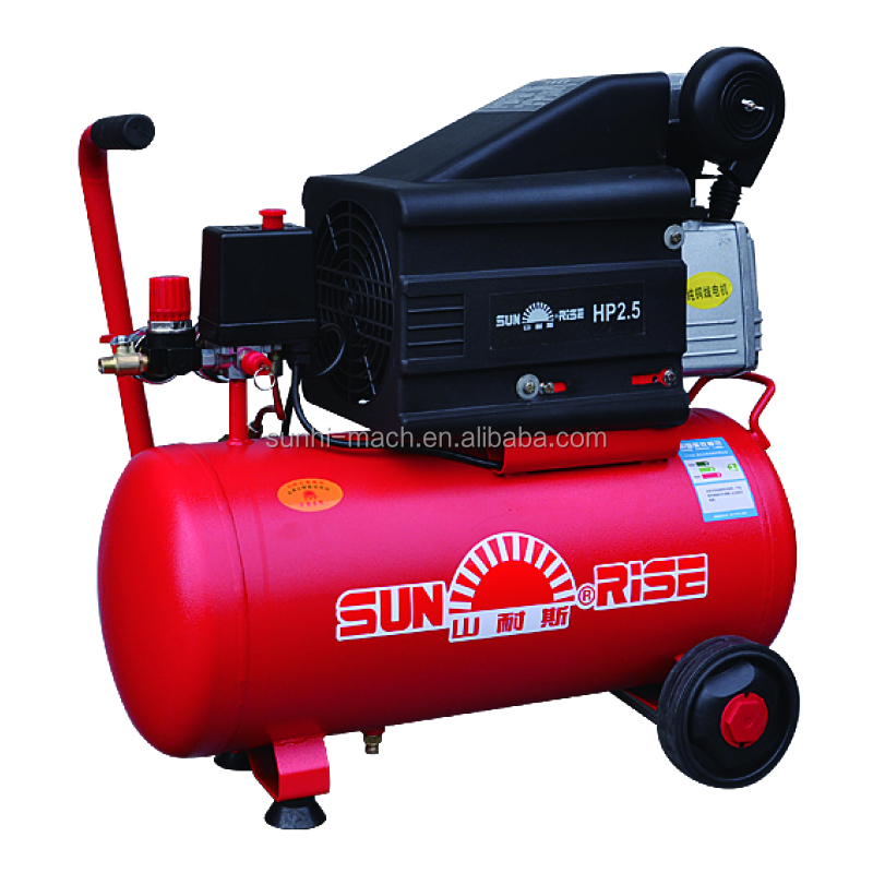 BM2550M model direct driven silent portable small mobile air compressor 25L 50L