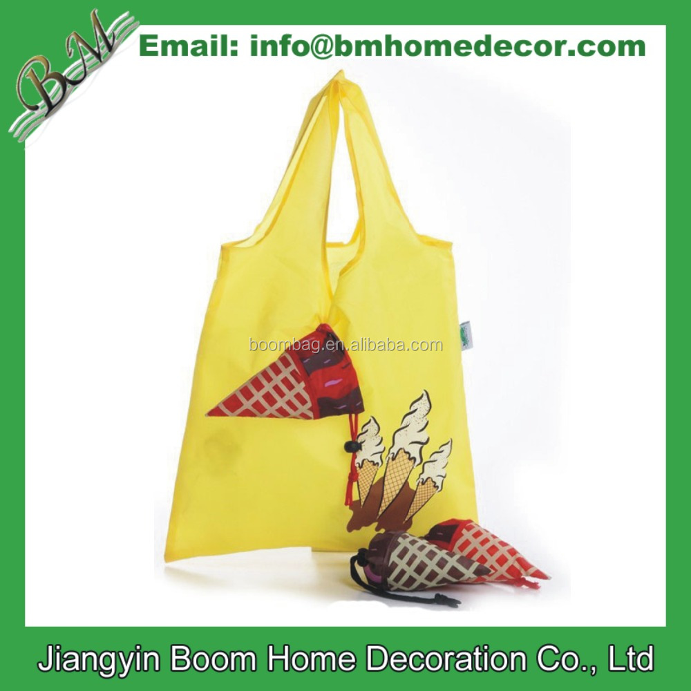 Custom Ice Cream Promotion Polyester Tote Foldable Bag