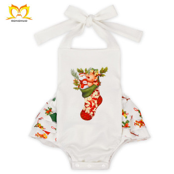 Persnickety Infant Christmas Stocking Ruffle Design Clothes Baby Girl Picture Romper