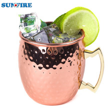 Factory wholesale moscow mule mug 100% copper plated Mug Drum-Type Beer Cup Water Glass Drinkware 18oz