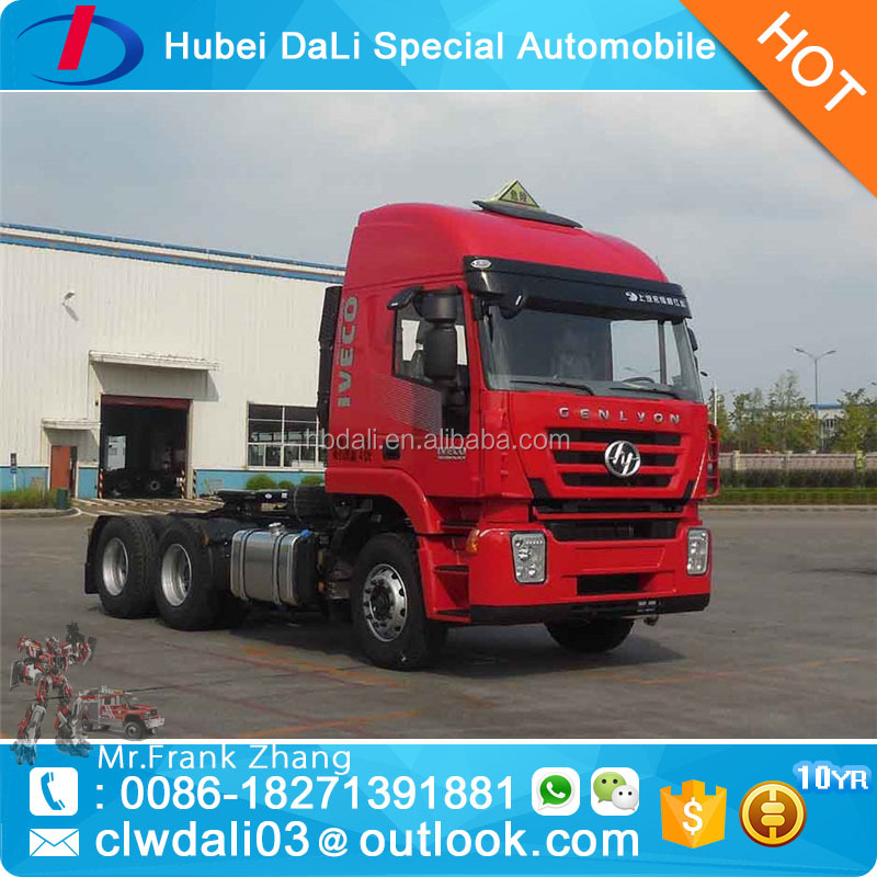 IVECO technology 6x4 10 wheels tractor truck with trailer