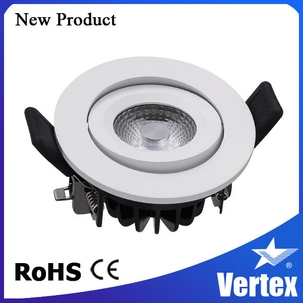 Anti-glare healthy 8W led down light, Tridonic driver included, fire rated version