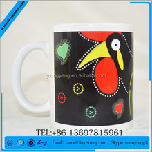 simple traditional bule and white porcelain decal mugs ceramic tea cups without handle