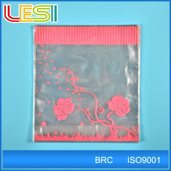 opp plastic packing bags for clothes carry bag design