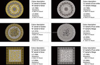 Crocheted Pattern and Crocheted Technics PVC Lace Doilies Placemat