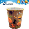 Halloween designed plastic trash bin, cheap plastic trash bin