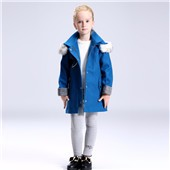 6 years old girls long sleeve plaid jacket coats check wool coat for kids