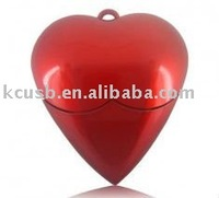 top-grade quality heart design plastic USB flash drives heart shape