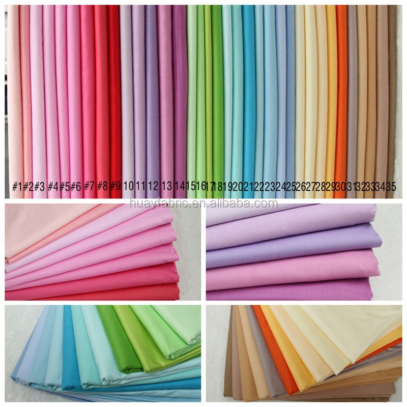 160CM width plain color 100 cotton fabric bed sheet fabric HYC0020