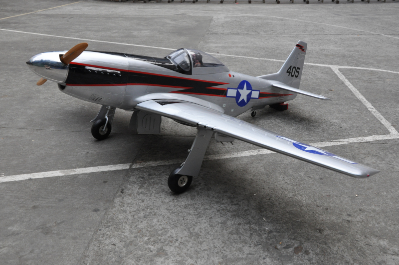 "Mustang 96"" 100cc F0071 rc fiberglass model airplane with Air retract landing gear"