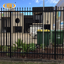 Haiao fence High quality Galvanized and powder coated 1.8m high panel iron fence