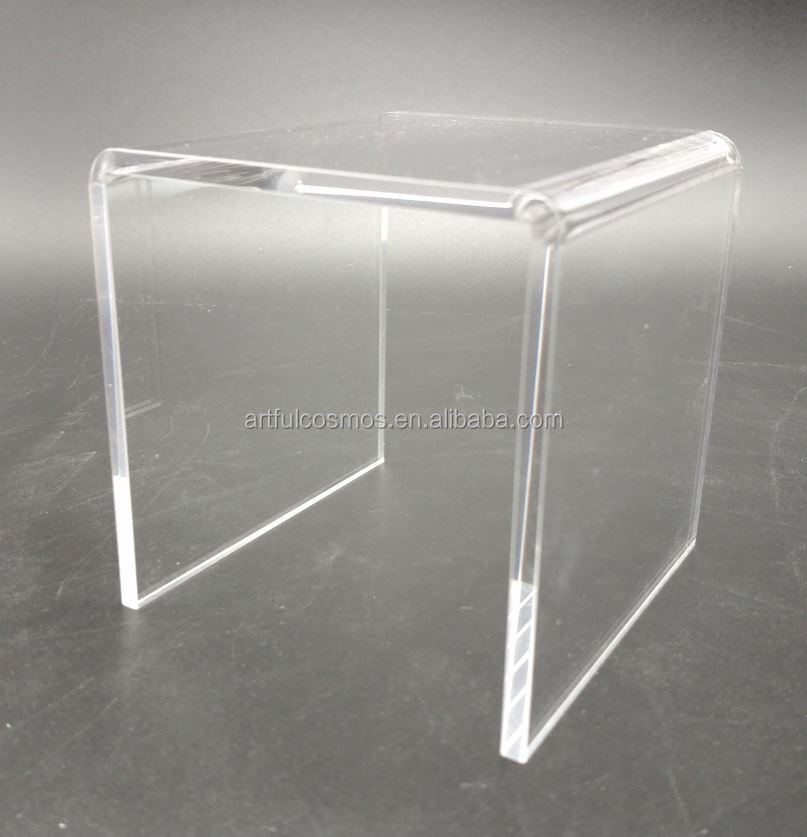 Acrylic Cube Riser Clear Solid Acrylic Display Cube Block
