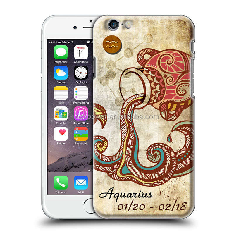 Wholesale 3D zodiac heroscope customised 5.5inch phone accessories mobile case cover for iphone 6 6s 5 5s se for samsung