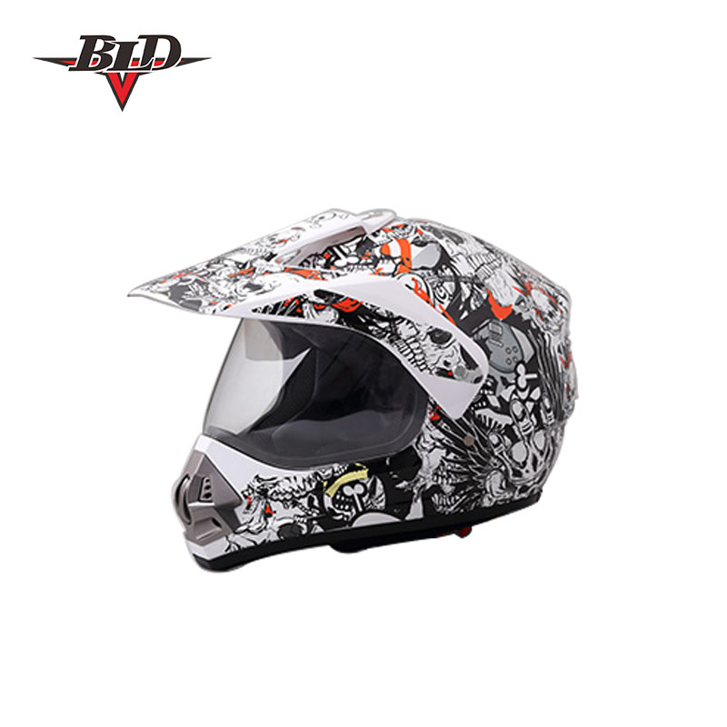 Dual Visor Open Face helmet double face mask helmets