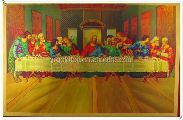 promotion 3D Ascension de Jesus leticular picture Gold plated Jesus picture