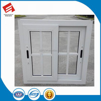 2017 Latest Design French style PVC sliding window with grills