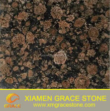 Import / Export Coffee Brown Color Granite For Tiles / Slabs/Wall Decoration