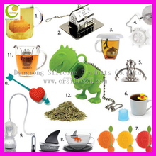Low price good quality tea infuser colorful silicone and stainless steel tea infuser