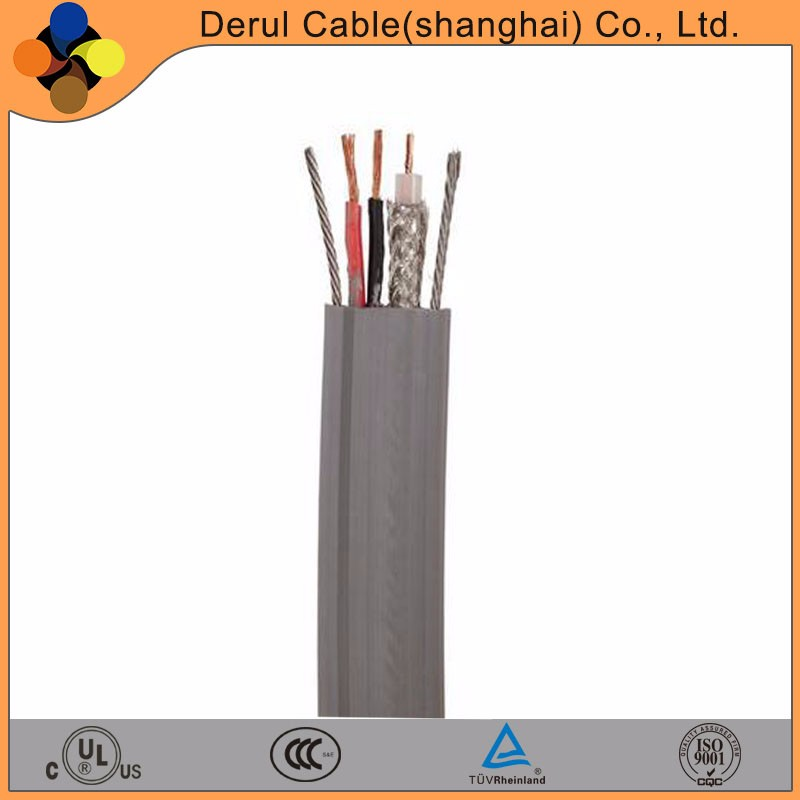 CAT6 electric flat 6 core flexible elevator travelling cable with steel wire
