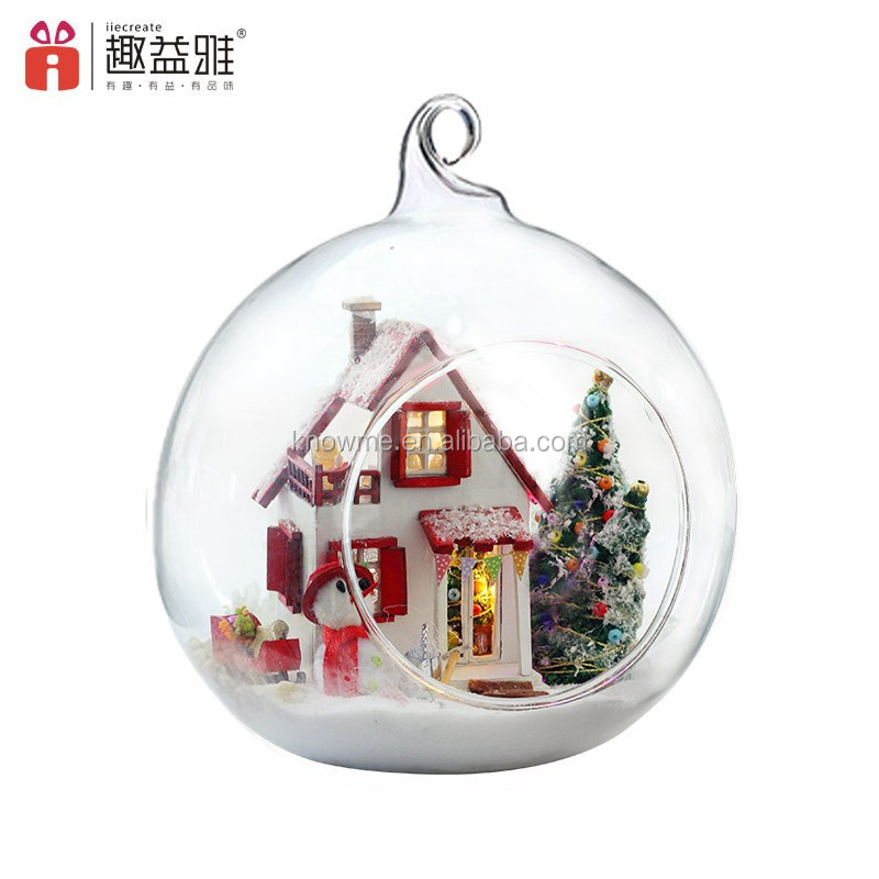 DIY Wooden Dollhouse Miniature 3D Handwork Model Kit In Glass Ball LED Light <strong>G10</strong>