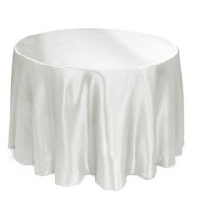 TEXTILE FACTORY Hot Sale Cheap Polyester Plain Wedding Shining Satin Table Cloth