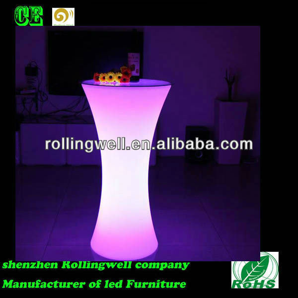 color changing LED table / light up furniture / outdoor bar counter