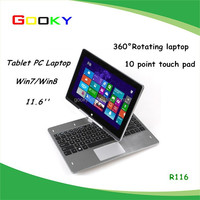 11.6 inch rotating touch screen laptop with 2.0 million pixels camera dual core 2GB RAM 320GB HDD