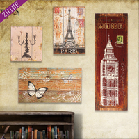 decorative hand made oil painting wood board handcraft mdf wooden wall sign