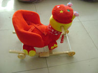 super cute peacock baby chair stuffed plush animal singing/musical sound rocking horse~wonderful gift for kids