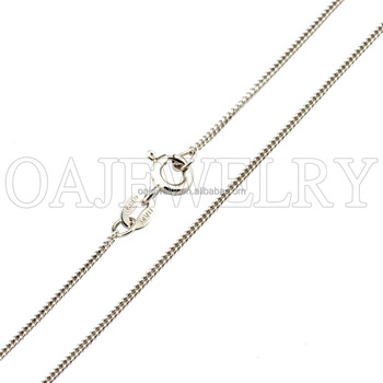 simple accessary lady's gift 925 sterling silver chain wholesale
