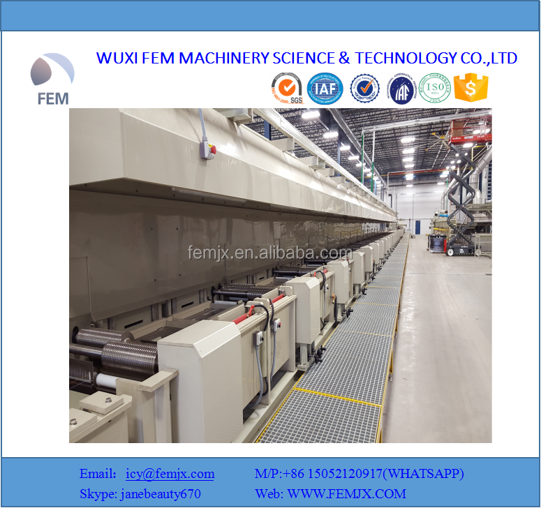 Steel cord Car radial tires brass plating production line