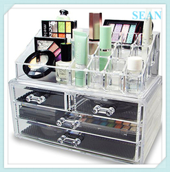 Custom printing Jewelry acrylic cosmetic display case Hot Sell Low Price