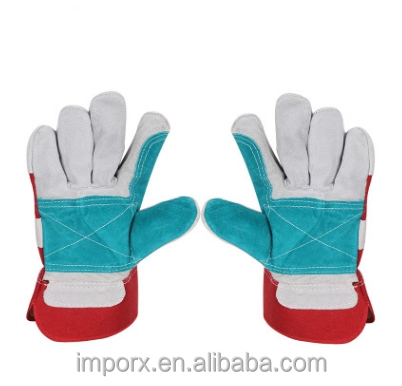 Welding welder wear-resistant insulating leather gloves