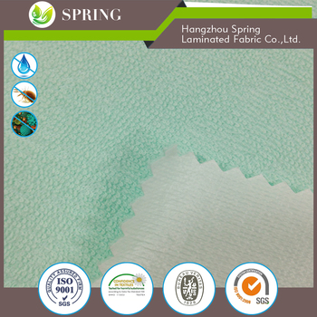 Terry towelling Laminated Fabric for Mattress Protector 100%cotton material