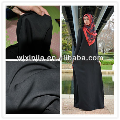 "100% superior quality 68""*25 yds Formal black nida Abaya Fabrics"