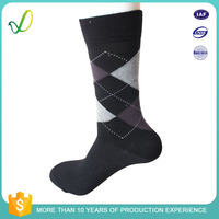 China Cheap Men Custom 100 Cotton Colored Dress Socks Wholesale Factory