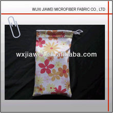 microfiber sunglasses bag with logo printing