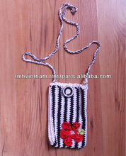 Cotton Yarn Handmade Crochet cell phone bags