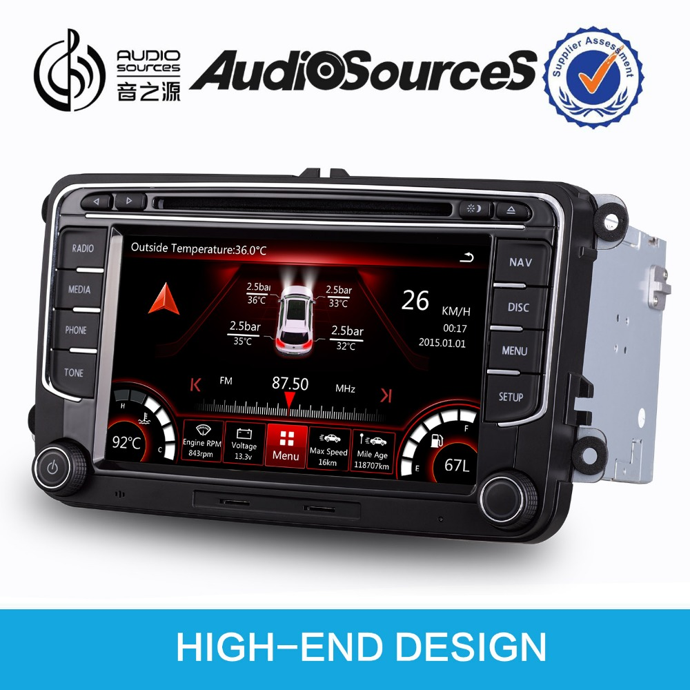 volkswagen golf 5 car dvd player gps with bluetooth SD USB can bus steering wheel control OPS IPAS door cue
