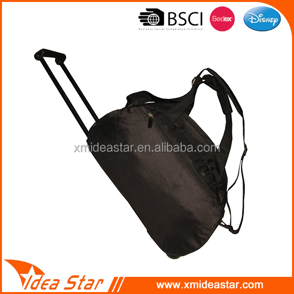 fashionable adjustable strap large light weight travel bag trolley luggage
