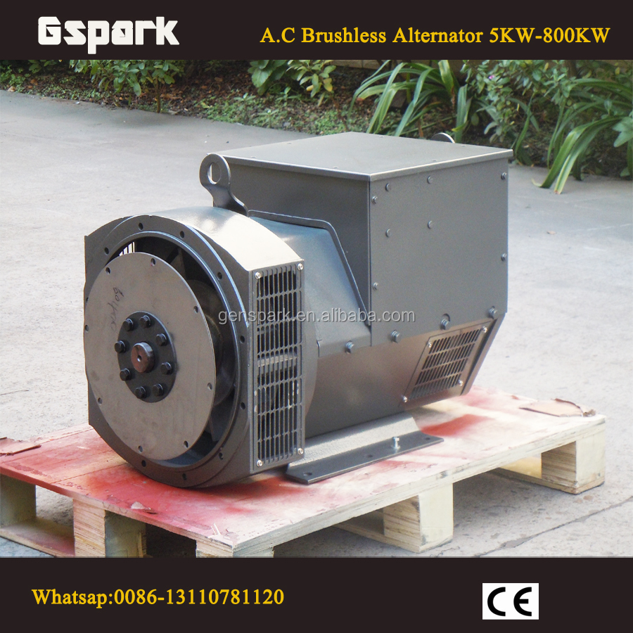 3 phase AC 100KW Brushless Alternator