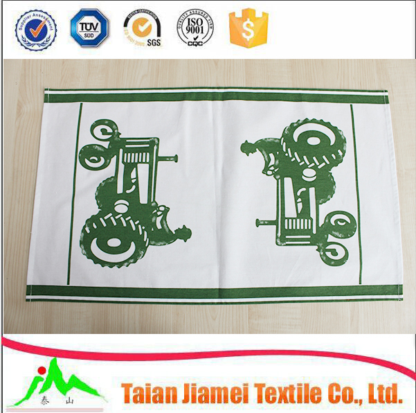 wholesale cotton dish towel silk screen printed kitchen tea towel