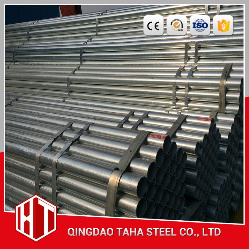 structural round hollow section zinc coating galvanized steel pipe