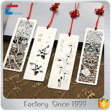 Personalized engraved/engraving stainless steel metal bookmarks for books