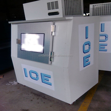 Ice storage bin freezer /commercial refrigerated bagged ice bin/Ice cube storage bin with two doors, CE Certified