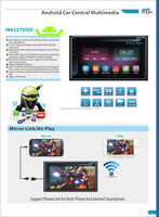 "6.1"" Pure Android 4.4.4 full touch car dvd player"