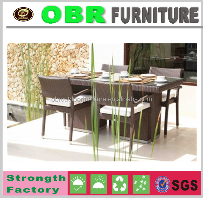 China Garden natural Wicker/rattan outdoor Round dining rattan Furniture