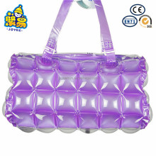 Light weight plastic inflatable bubble tote beach bag
