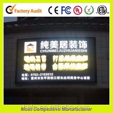 Shenzhen factory high brightness p8 outdoor fixed led billboard hang on building p6 p8 p10 p16 led sign