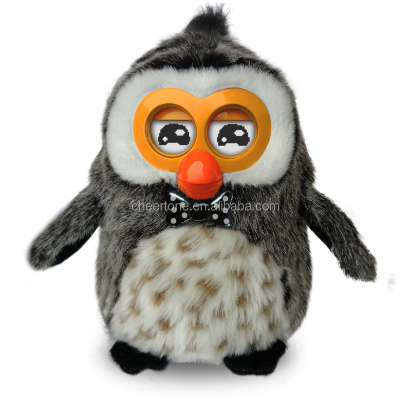 Hibou Smart Electronic Pet with Repeat Talking Singing and Dancing Animal Plush Toys for Kids